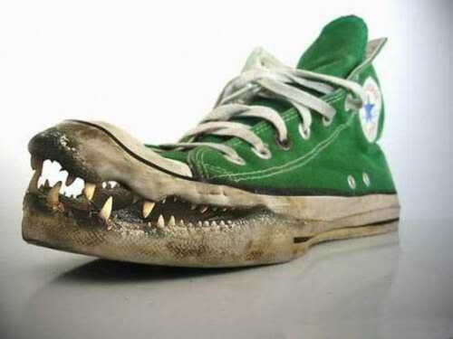 funny shoes. shoes without laces are