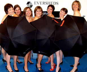 Eversheds partners get their brollies out